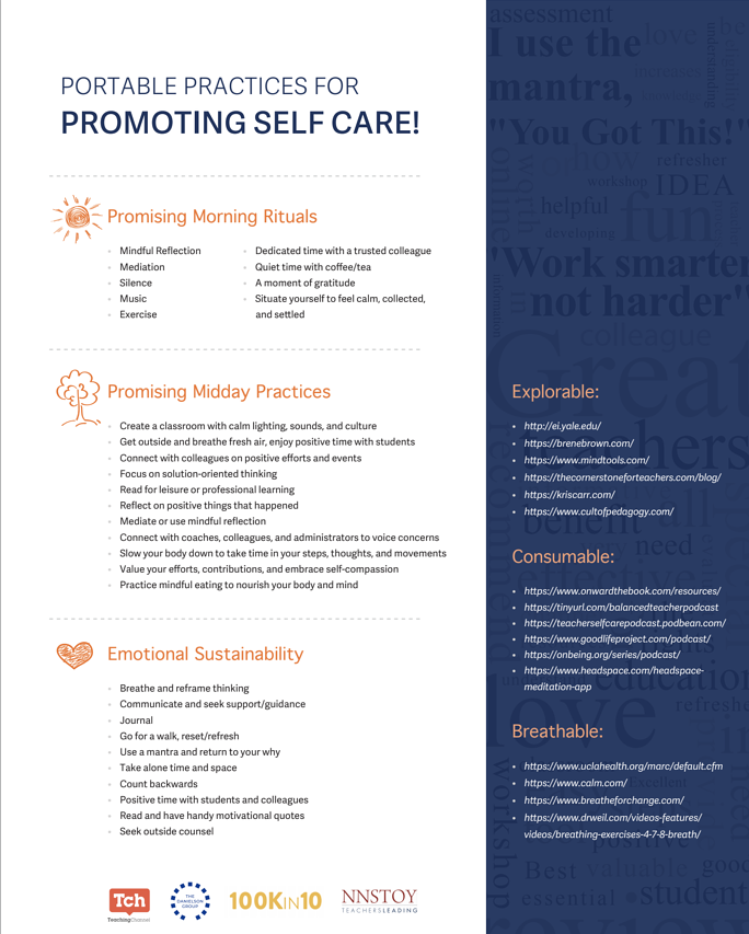Portable Practices For Promoting Self Care