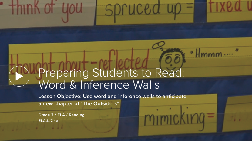 Preparing Students to Read: Word and Inference Walls,