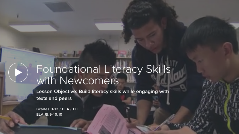 VIDEO: Foundational Literacy Skills with Newcomers