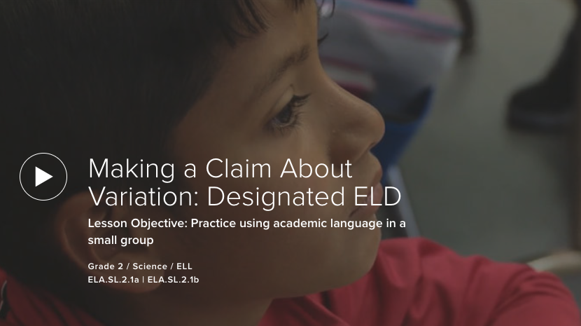 Making a Claim About Variation: Designated ELD
