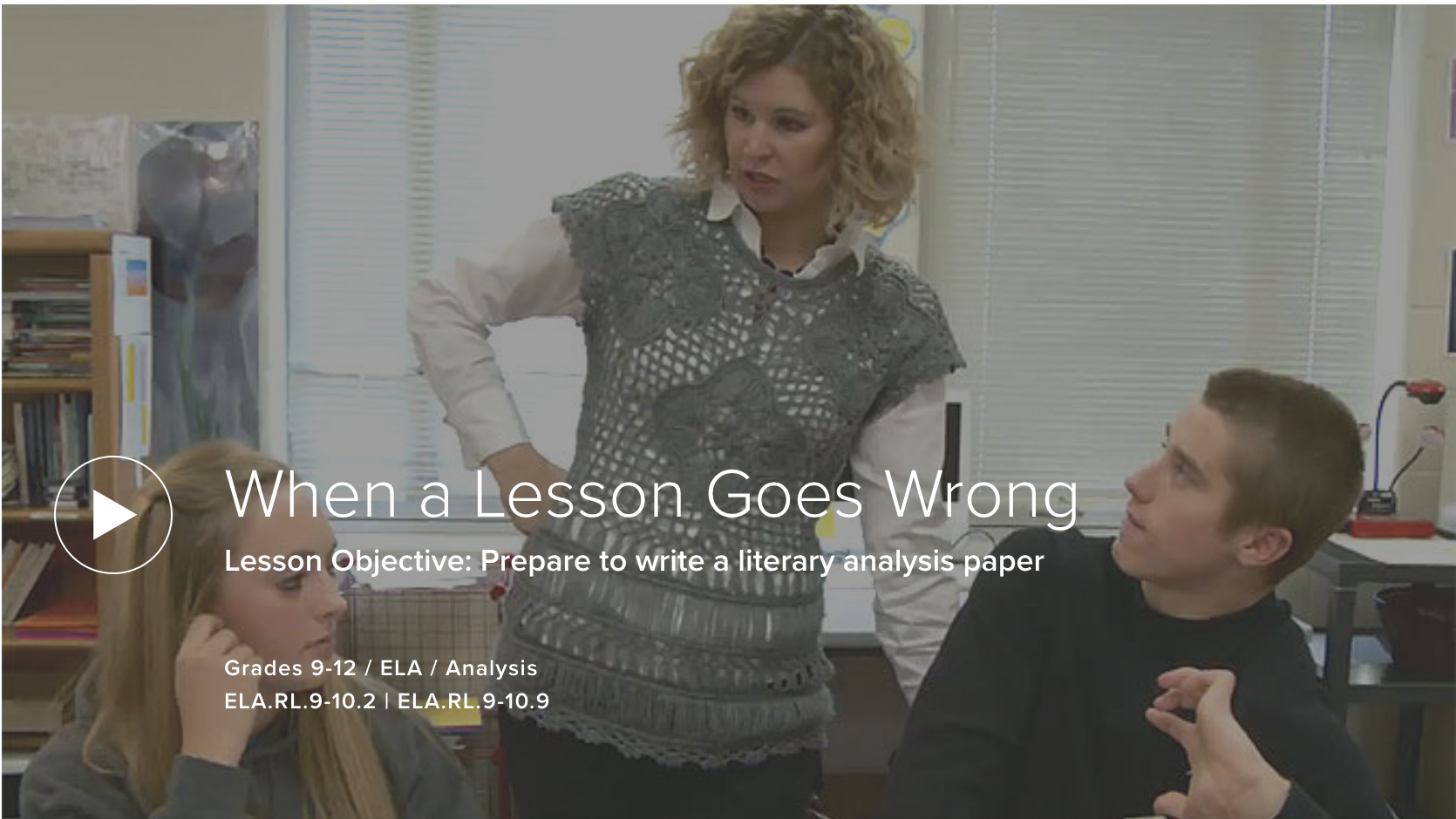When a Lesson Goes Wrong