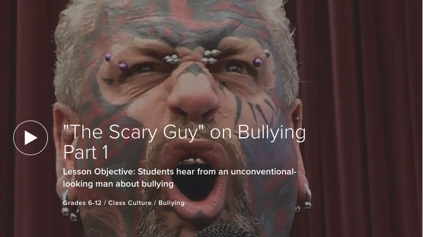 """""""The Scary Guy"""" on Bullying Part 1"""