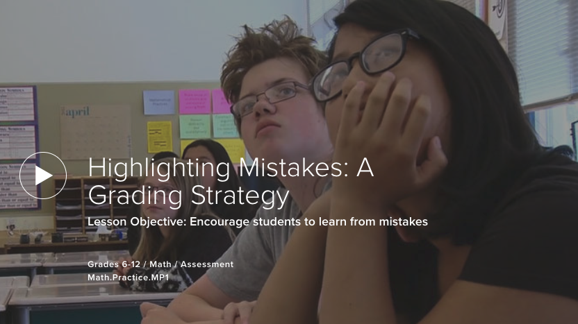 Highlighting Mistakes: A Grading Strategy