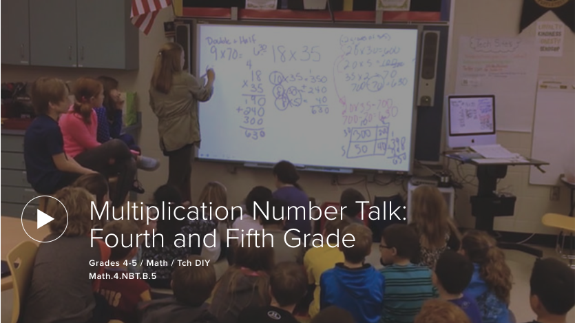 Multiplication Number Talk: Fourth and Fifth Grade