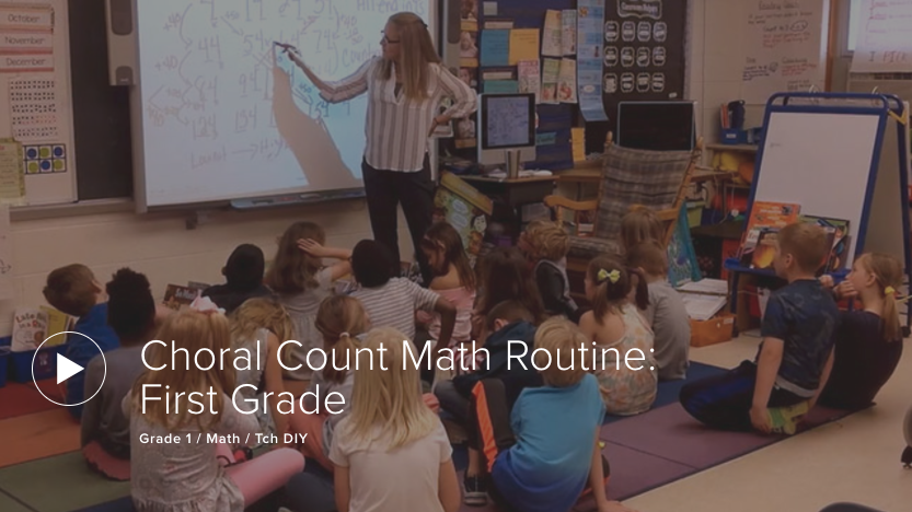 Choral Count Math Routine: First Grade