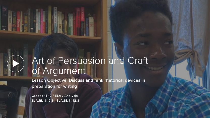 Art of Persuasion and Craft of Argument