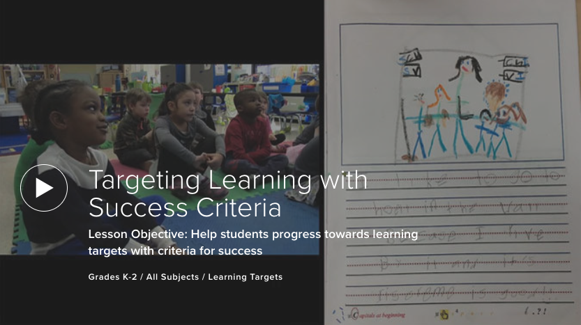 Targeting Learning with Success Criteria