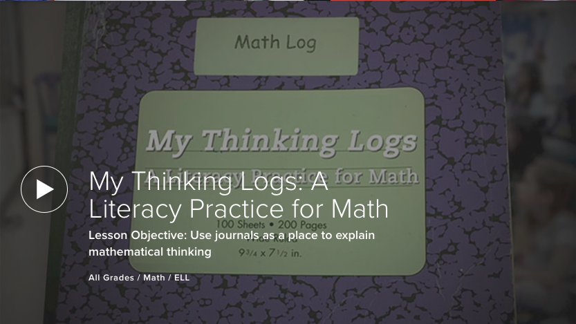 My Thinking Logs: A Literacy Practice for Math