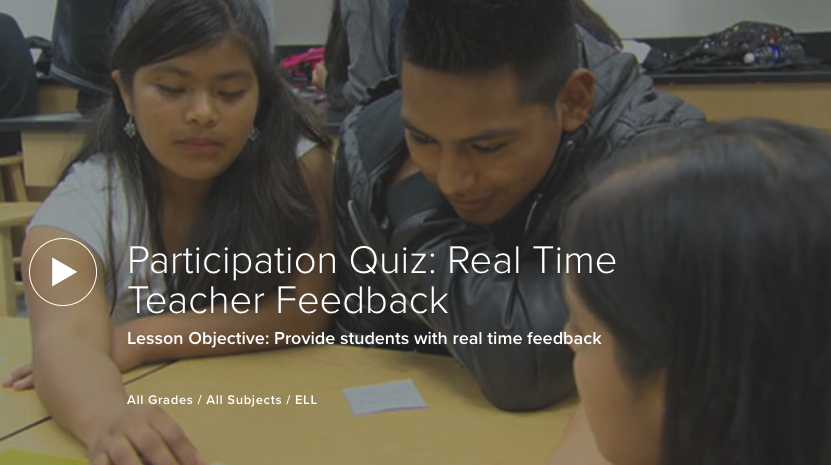 Participation Quiz: Real Time Teacher Feedback