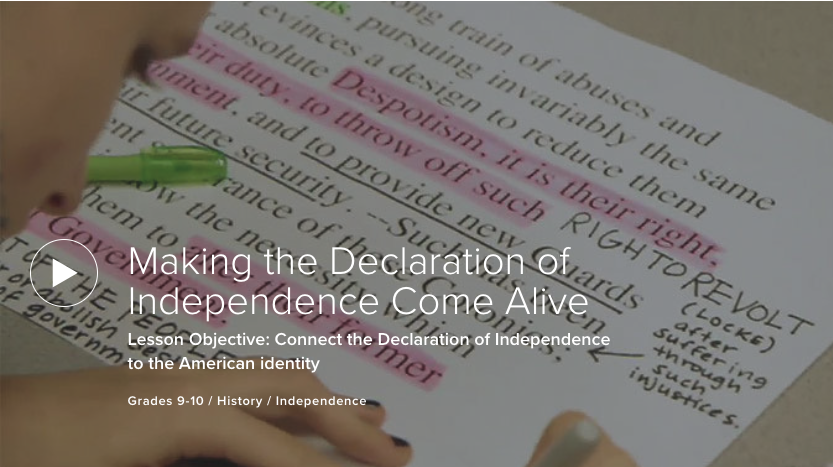 Making the Declaration of Independence Come Alive