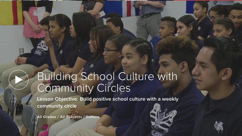Building School Culture with Community Circles