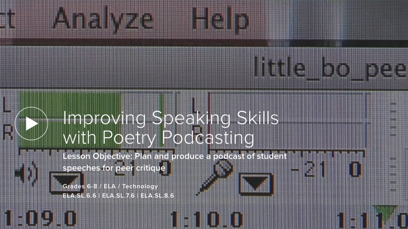 Improving Speaking Skills with Poetry Podcasting