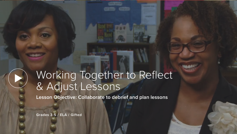 Working Together to Reflect & Adjust Lessons
