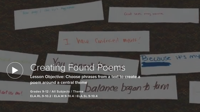 Creating Found Poems